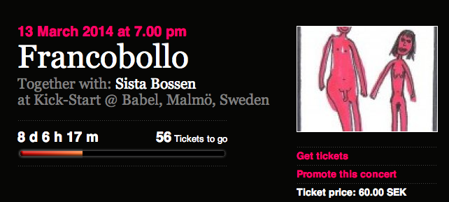 Fans are Now Booking: Francobollo and Sista Bossen at KICK-START