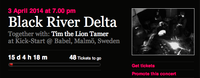Fans are Now Booking: Tim The Lion Tamer + Black River Delta