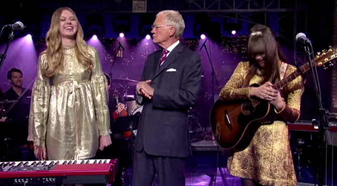 "Watch First Aid Kit perform ""Silver Lining"" on Letterman"