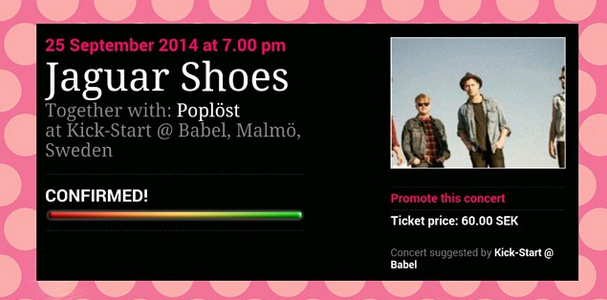 CONCERT CONFIRMED: JAGUAR SHOES & POPLÖST AT KICK-START